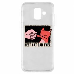 Чехол для Samsung A6 2018 Best cat dad ever