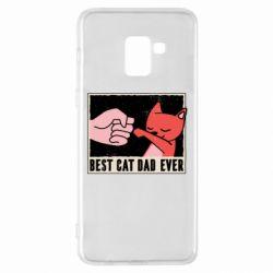 Чехол для Samsung A8+ 2018 Best cat dad ever