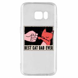 Чехол для Samsung S7 Best cat dad ever