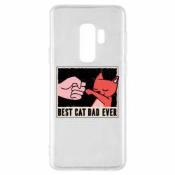 Чехол для Samsung S9+ Best cat dad ever
