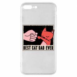 Чехол для iPhone 8 Plus Best cat dad ever