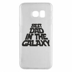 Чехол для Samsung S6 EDGE Best dad in the galaxy
