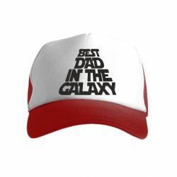 Детская кепка-тракер Best dad in the galaxy