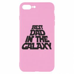 Чехол для iPhone 8 Plus Best dad in the galaxy
