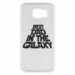 Чехол для Samsung S6 Best dad in the galaxy
