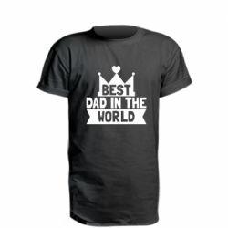 Удлиненная футболка Best dad in the world