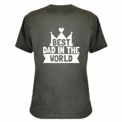 Камуфляжная футболка Best dad in the world