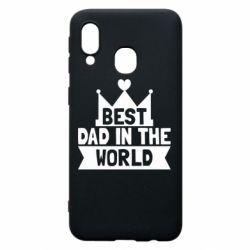 Чехол для Samsung A40 Best dad in the world
