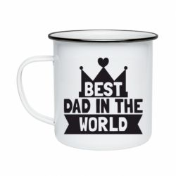Кружка эмалированная Best dad in the world