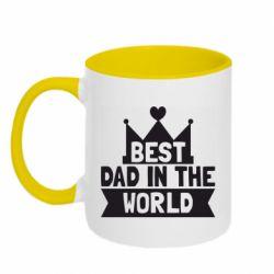 Кружка двухцветная 320ml Best dad in the world