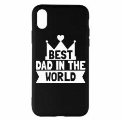 Чехол для iPhone X/Xs Best dad in the world