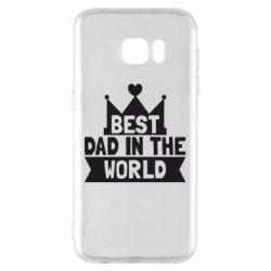 Чехол для Samsung S7 EDGE Best dad in the world