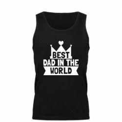 Мужская майка Best dad in the world