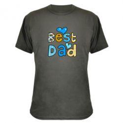 Камуфляжная футболка Best Dad - FatLine