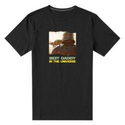 Чоловіча стрейчева футболка Best daddy mandalorian