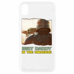 Чехол для iPhone XR Best daddy mandalorian