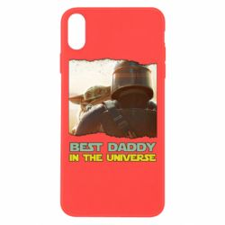 Чехол для iPhone Xs Max Best daddy mandalorian