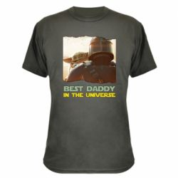 Камуфляжна футболка Best daddy mandalorian