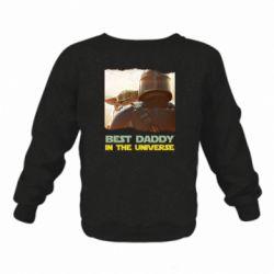 Дитячий реглан (світшот) Best daddy mandalorian