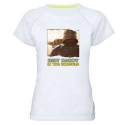Жіноча спортивна футболка Best daddy mandalorian