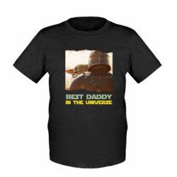 Дитяча футболка Best daddy mandalorian