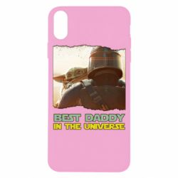 Чехол для iPhone X/Xs Best daddy mandalorian