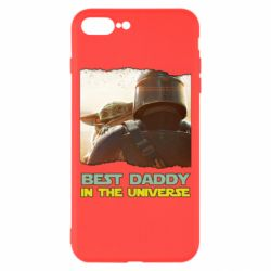 Чехол для iPhone 8 Plus Best daddy mandalorian