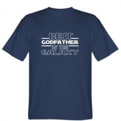 Чоловіча футболка Best godfather in the galaxy