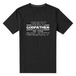 Чоловіча стрейчева футболка Best godfather in the galaxy