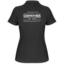 Жіноча футболка поло Best godfather in the galaxy