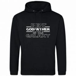 Чоловіча толстовка Best godfather in the galaxy