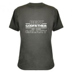 Камуфляжна футболка Best godfather in the galaxy