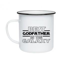 Кружка емальована Best godfather in the galaxy