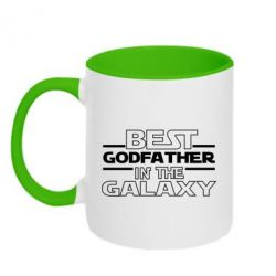 Кружка двоколірна 320ml Best godfather in the galaxy