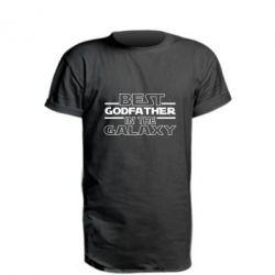 Подовжена футболка Best godfather in the galaxy