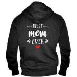 Мужская толстовка на молнии Best mom ever