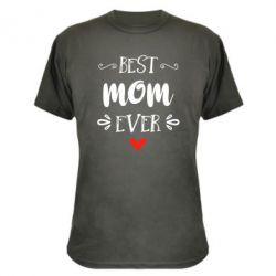 Камуфляжная футболка Best mom ever