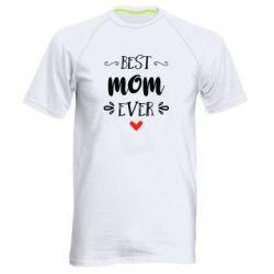 Мужская спортивная футболка Best mom ever