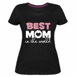 Жіноча стрейчева футболка Best mom