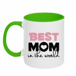 Кружка двоколірна 320ml Best mom
