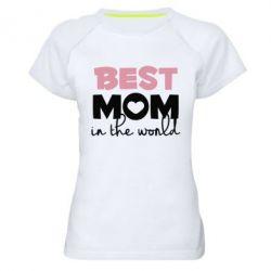 Жіноча спортивна футболка Best mom
