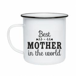 Кружка емальована Best mother in the world