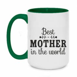 Кружка двоколірна 420ml Best mother in the world