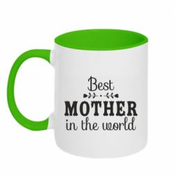 Кружка двоколірна 320ml Best mother in the world