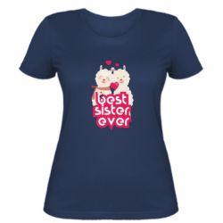 Жіноча футболка Best sister ever