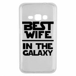 Чехол для Samsung J1 2016 Best wife in the Galaxy