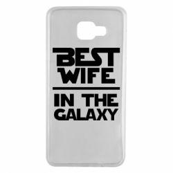 Чехол для Samsung A7 2016 Best wife in the Galaxy