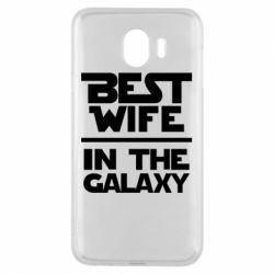 Чехол для Samsung J4 Best wife in the Galaxy