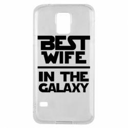 Чехол для Samsung S5 Best wife in the Galaxy
