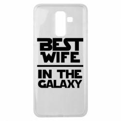 Чехол для Samsung J8 2018 Best wife in the Galaxy